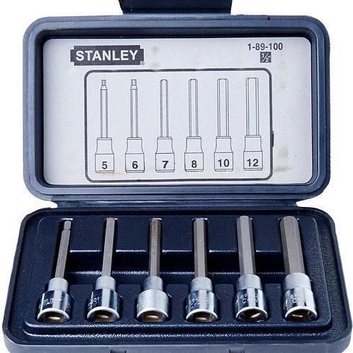 STANLEY 6PCS 1/2 DR LONG HEX SKT 89-100-1