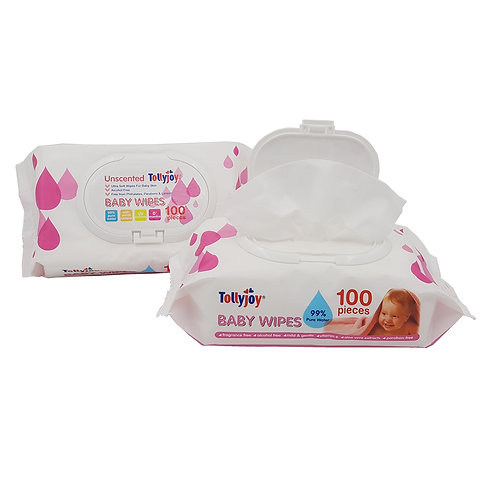 3065/30624 - Tollyjoy Unscented Wipes 2x100pcs