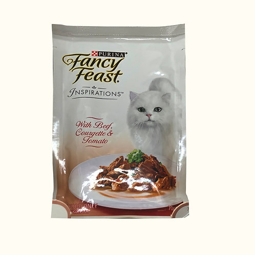 Fancy Feast Inspirations Cat Food - Beef, Courgette and Tomato 70g