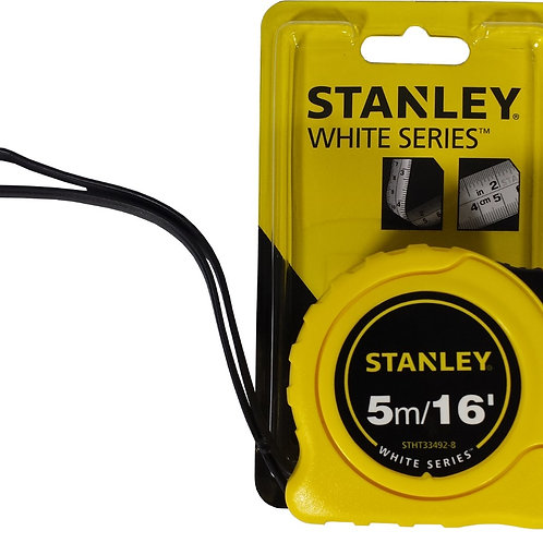 STANLEY MEASURING TAPE, DBL SID WHITE BLADE 5M/16FT, STHT33492-8