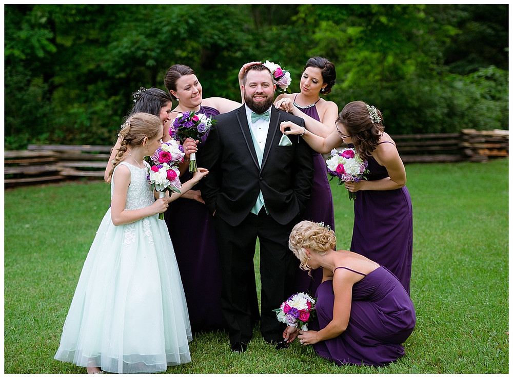 All of the girls making sure Shaun is picture ready!
