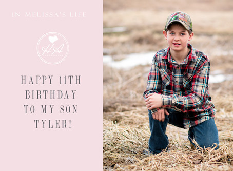 Happy 11th Birthday to My Son Tyler