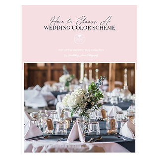 How to Choose a Wedding Color Scheme Mini Guide Template