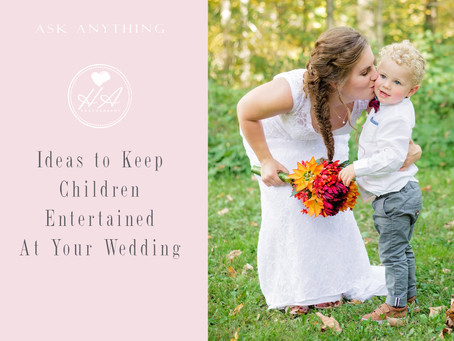 Ideas to Keep Children Entertained At Your Wedding