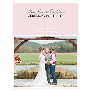 Look Great In Your Ceremony Portraits Mini Guide Template