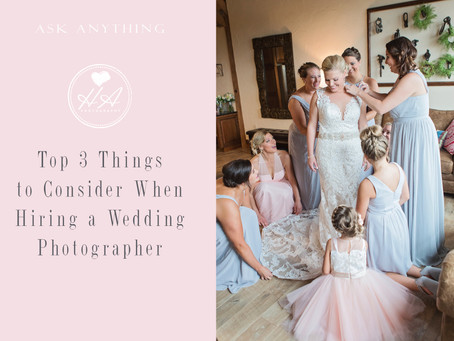 Top 3 Things to Consider When Hiring a Wedding Photographer