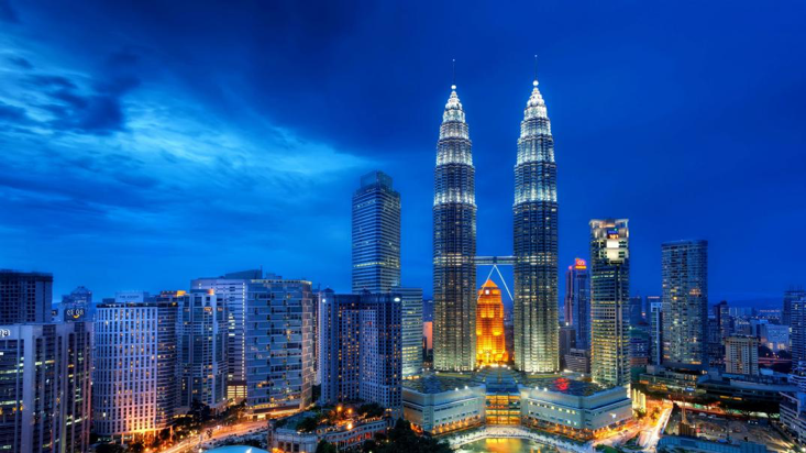 View of Malaysia iconic KLCC Nightview