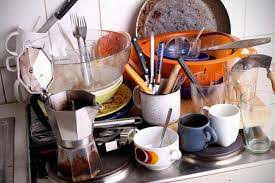 Unwashed Dishes a Common Senario