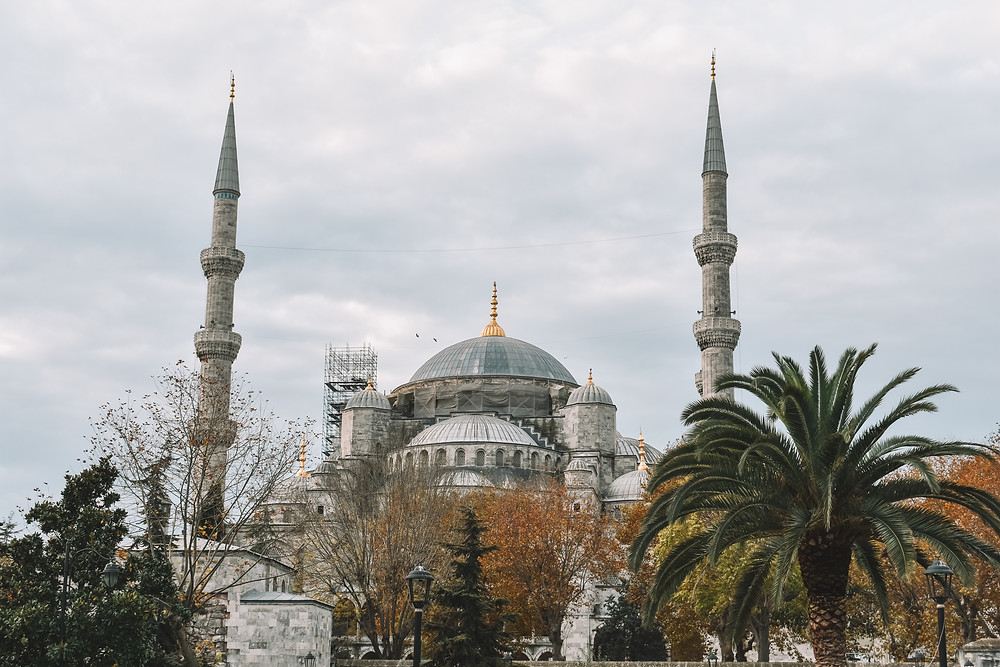 front view of the Blue Mosque