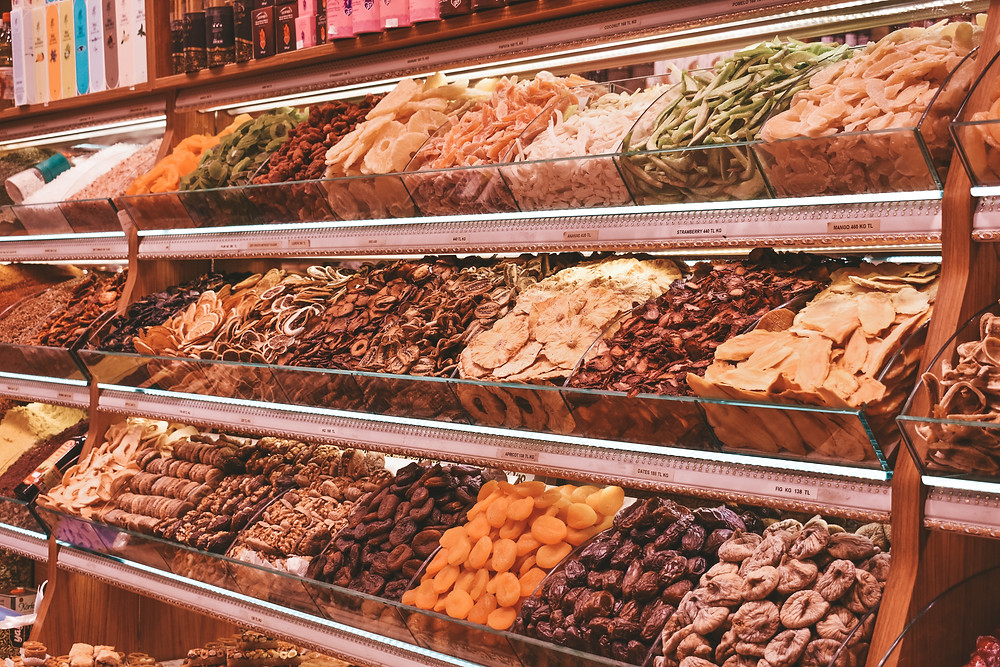 dried fruits at the Grand Bazaar