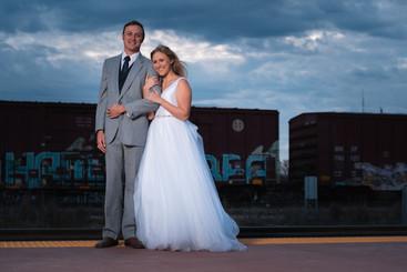 Temple TX Santa Fe Depot Wedding