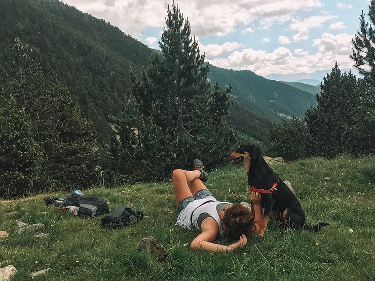 Andorra with dog
