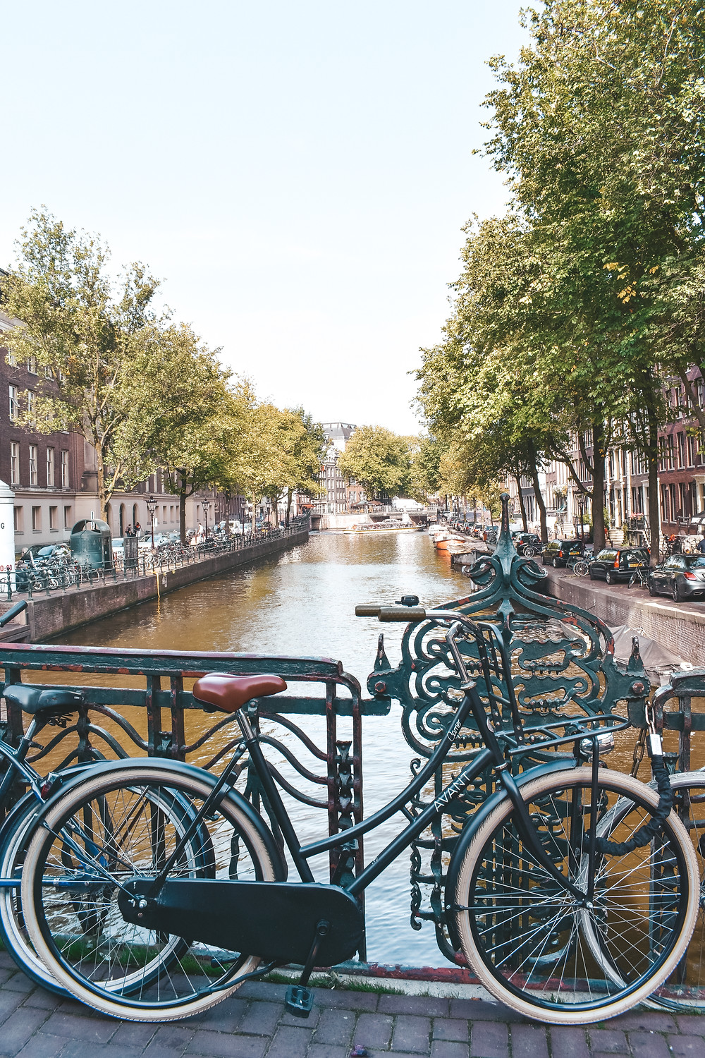 bicycles near the canal
