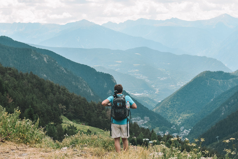 Brett overlooking the valley