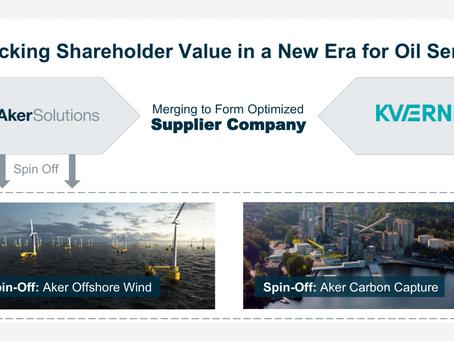 Aker Solutions vil etablere egne selskap for vind og CCUS