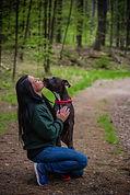 Staff and Dog