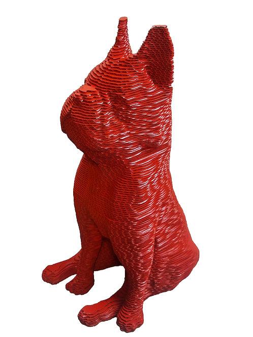 Bulldog pop art en carton