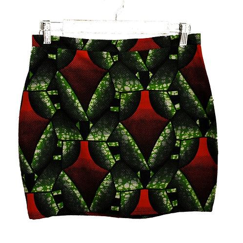 Mini jupe droite verte