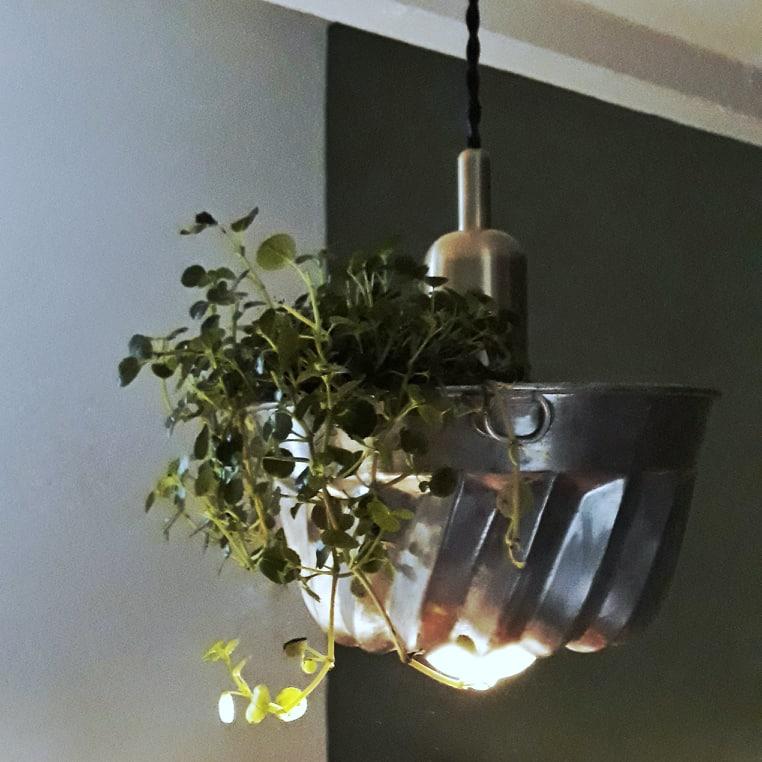Suspension florale-Lampe Mine-lueur-en-v