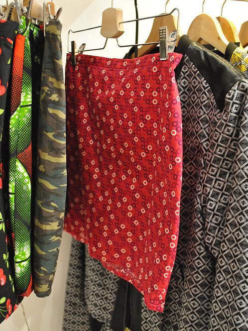 Mini jupe droite rose