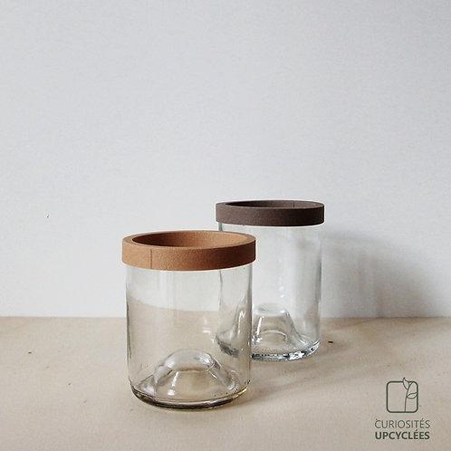 POT bouteille recyclée verre clair