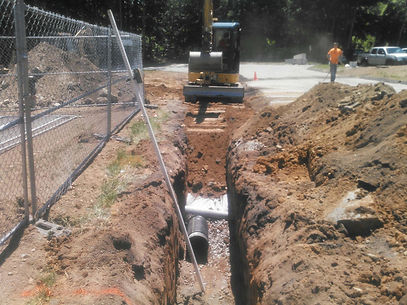 Laying Pipe in Connecticut, Water Issues, Storm Work