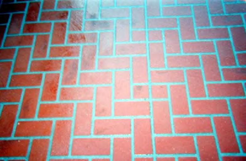 Stenciled Brick