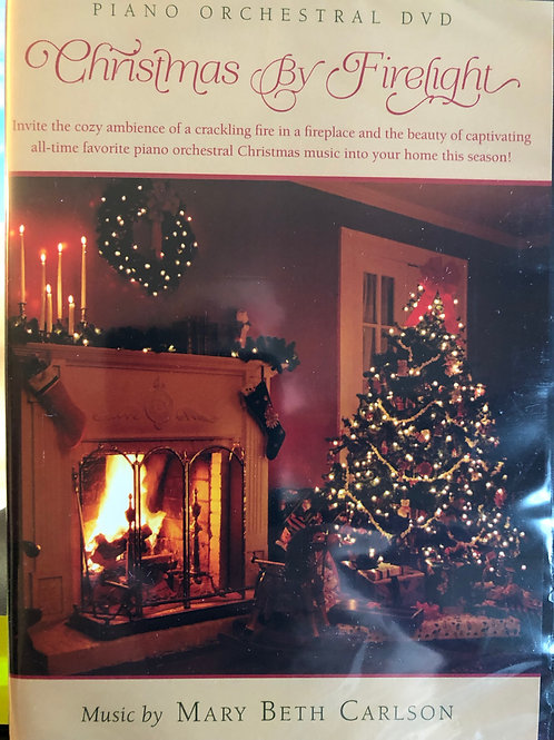 Christmas By Firelight DVD with Music