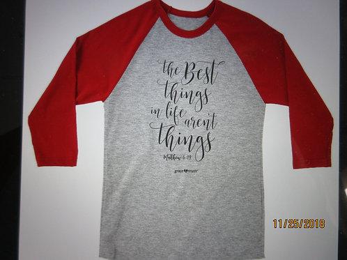 grace & truth® - Women's Adult Raglan T-Shirt - The Best Things
