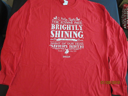 "Adult Long Sleeve - ""Brightly Shining"" -"