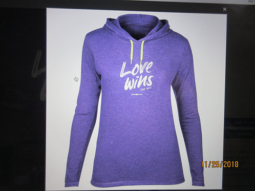 grace & truth® - Women's Adult Hooded T-Shirt - Love Wins