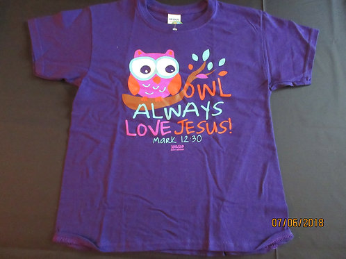Kidz - OWL always love Jesus Short Sleeve