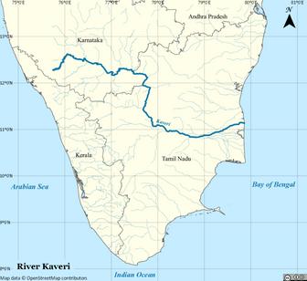 Map of Kaveri
