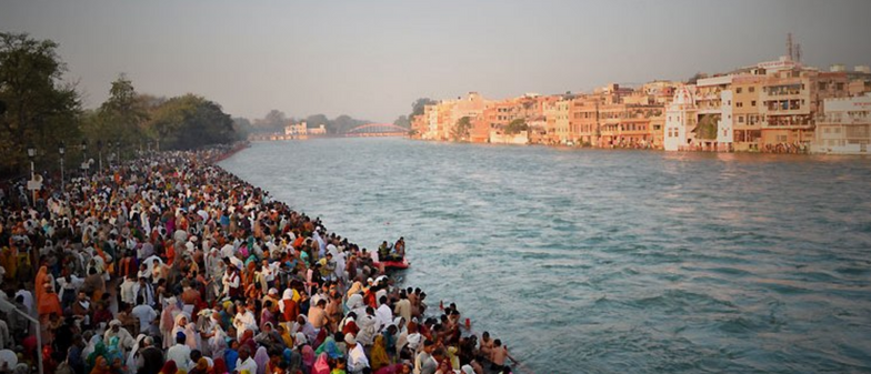 Bathing ghat at Haridwar
