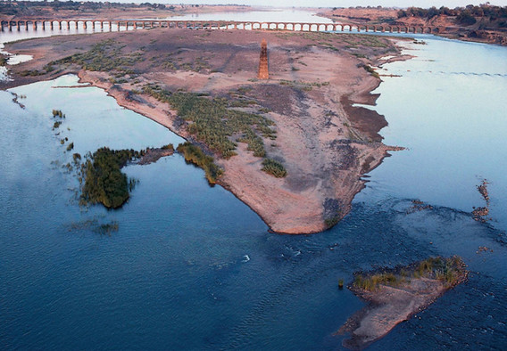 Sandbank on the Narmada