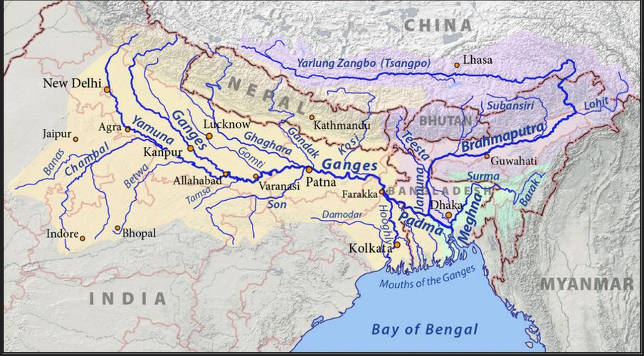 Ganges course (detail)