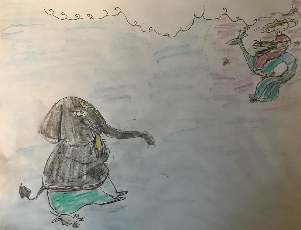 Ambaa K. (aged 9) New York
