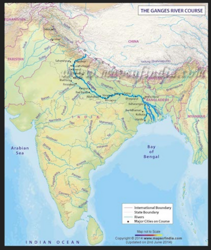 The course of the Ganges