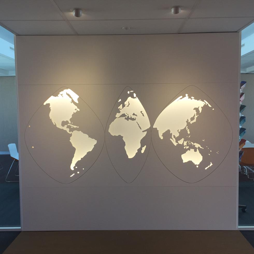 WTC - détail carte du monde.