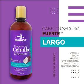 Manthoe Shampoo Cebolla & Romero