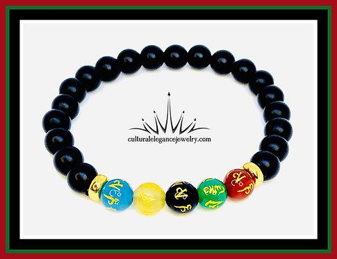 "Tibetan ""Prayers and Blessing"" Bracelet (Stretch)"