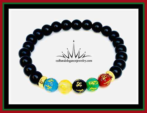 "Tibetan ""Prayers and Blessing"" Bracelet (Stretch)"