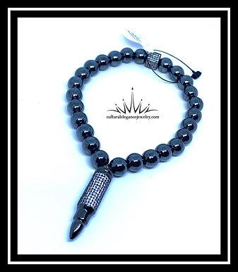 """Hematite""""Bullet"""" Bracelet"""