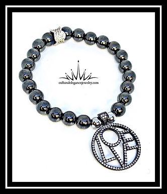 "Hematite ""Love"" Bracelet"