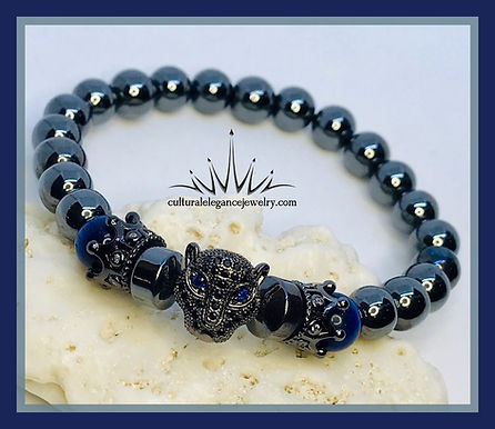 Hematite Panther Bracelet