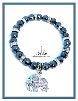 "Hematite ""Elephant"" Bracelet"