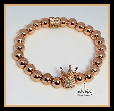 """Rose Gold """"Crown"""" Bracelet"""