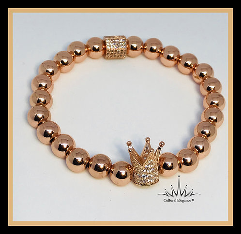 "Rose Gold ""Crown"" Bracelet"