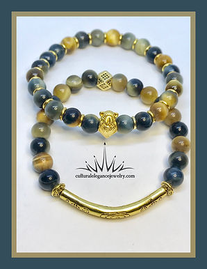 Multi-colored Tiger's Eye (Yellow/Blue)