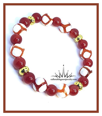 Red Orange Agate Soccer Mix